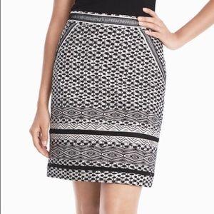 White House Black Market Safari Print Pencil Skirt